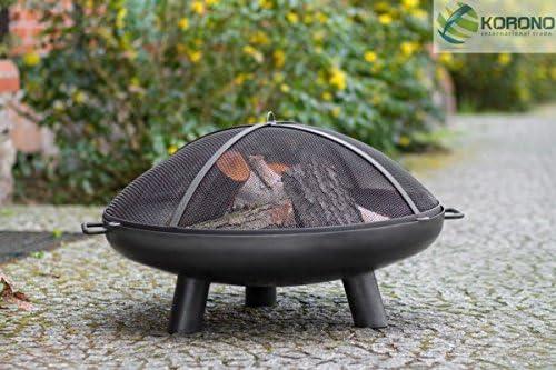 korono hoguera rejilla protectora 60 cm con agujero & mango & | Jardín | Incendio – Elegante Brasero: Amazon.es: Jardín