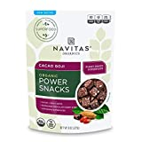 Navitas Organics Superfood Power Snacks, Cacao Goji, 8oz. Bag - Organic, Non-GMO, Gluten-Free