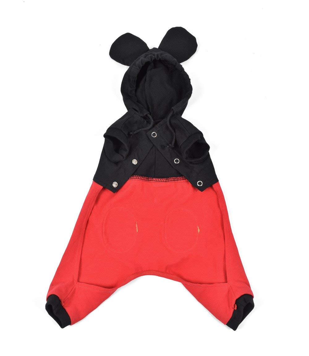 Puppe Love Mouse''Mickey'' Costume For Dogs - Size 5 (14'' l x 18.5'' - 20.5'' g) by Puppe Love