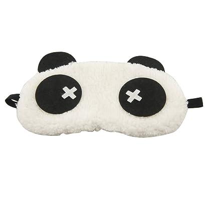Color blanco y negro diseño de oso panda dormir ojos Máscara funda Antifaz para dormir