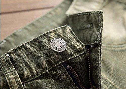 CYVVV para Verde Hombre Pantalones Vaquero qOrqwna0