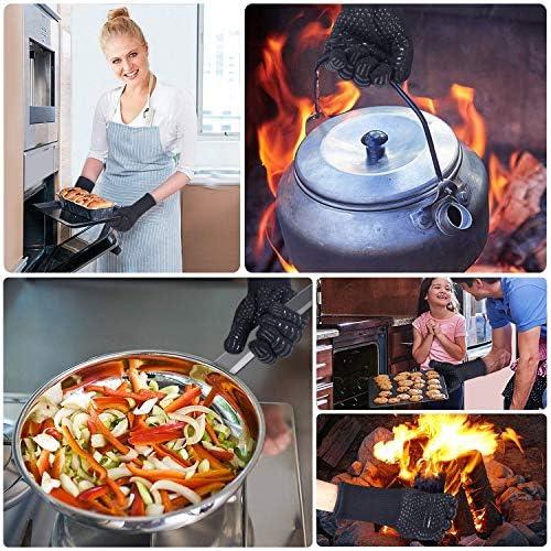 AOMEES Gants de Barbecue résistants à la Chaleur Weber Gants de Cuisine avec Doigts