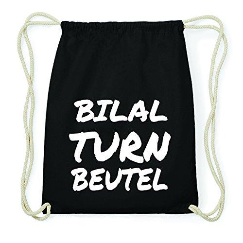 JOllify BILAL Hipster Turnbeutel Tasche Rucksack aus Baumwolle - Farbe: schwarz Design: Turnbeutel 6duxwU