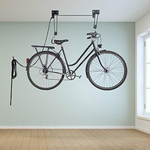Relaxdays Colgador Bicicleta Techo, Metal, Negro, Hasta 45 kg: Amazon.es: Deportes y aire libre