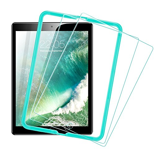 [2 Pack] ESR iPad 2018 Screen Protector/The New iPad Screen Protector, [Easy Installation Frame], Tempered Glass for iPad 2018/2017/iPad Air 2/iPad Air/iPad Pro 9.7/A1822 by ESR