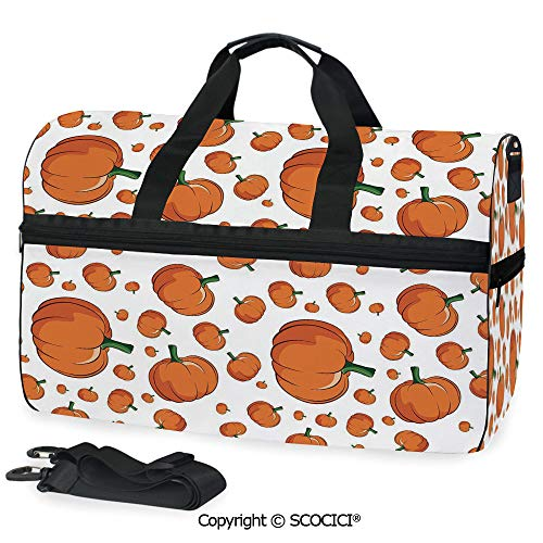 Travel Duffel Bag Halloween Inspired Pattern Vivid Personalized choice]()