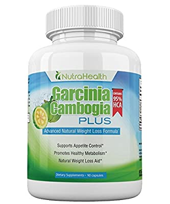 NutraHealth Pure Garcinia Cambogia Extract 95% HCA - Ultra Potency: 2100 mg Appetite Suppresant - 90 Vegan Capsules - 100% Natural Weight Loss Supplement For A Slim Body