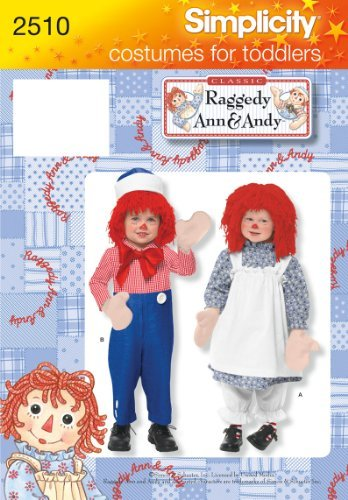 Simplicity Sewing Pattern 2510 Child and Toddler Costumes, BB (3-4-5-6-7-8) by Simplicity Creative Group Inc - Patterns