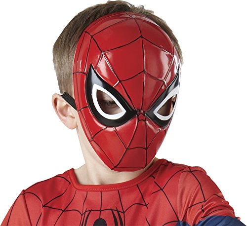 te Spider-Man Molded Face Mask, Child Size (Spider Man Prop)
