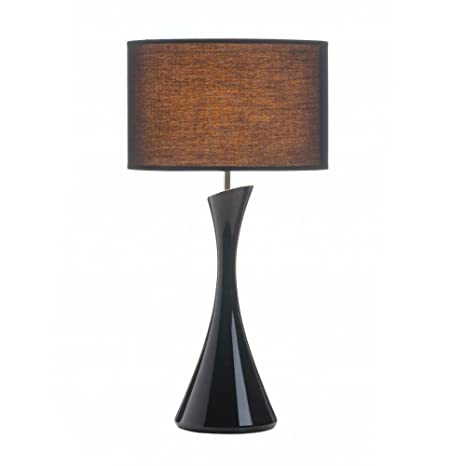 Small Desk Lamp, Black Table Lamps For Bedroom, Modern Contemporary Sleek  Lamp