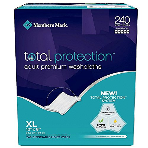 Adult Wipes (Simply Right Member's Mark Adult Wash-Cloths, 240 Count)