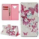 Galaxy Note 9 Case, Wallet Flip Folio Case