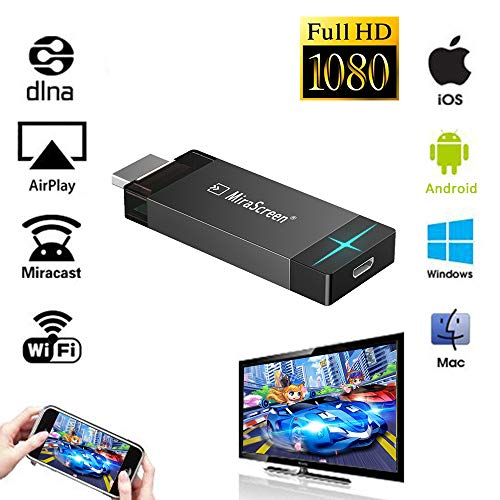 iBosi Cheng WiFi Display Dongle Wireless Display Receiver HDMI Dongle for Smartphones Laptops to HDTV Projector Car Monitor