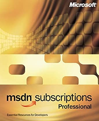 msdn professional subscription