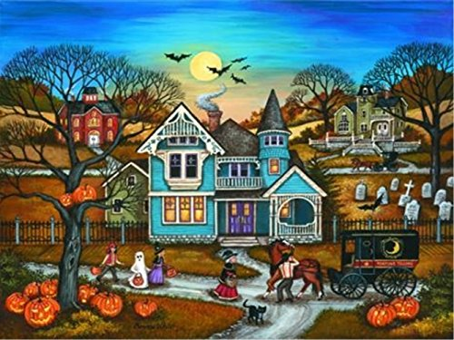 LIPHISFUN Diamond Painting Kits for Adults Full Drill Square Resin Rhinestone Embroidery Unfinished Cross Stitch Home Decor Gift Halloween Town(30x40cm)]()