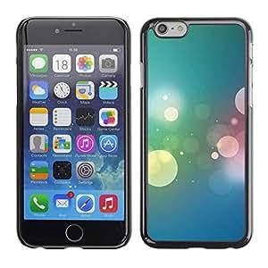 Paccase / SLIM PC / Aliminium Casa Carcasa Funda Case Cover para - Bokeh Colors - Apple Iphone 6