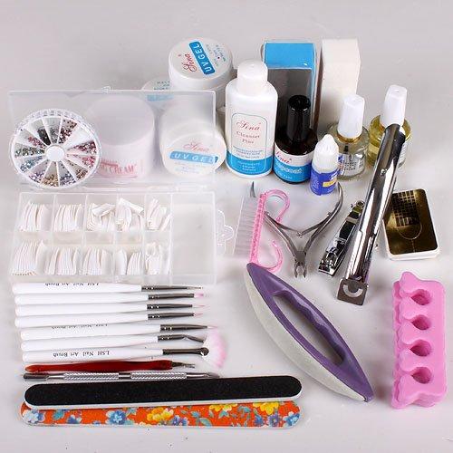 UK Stock Nail Art Care Starter Kit Acrylic Nail Polishing cuboids Set Tool Kid kingthink-UK