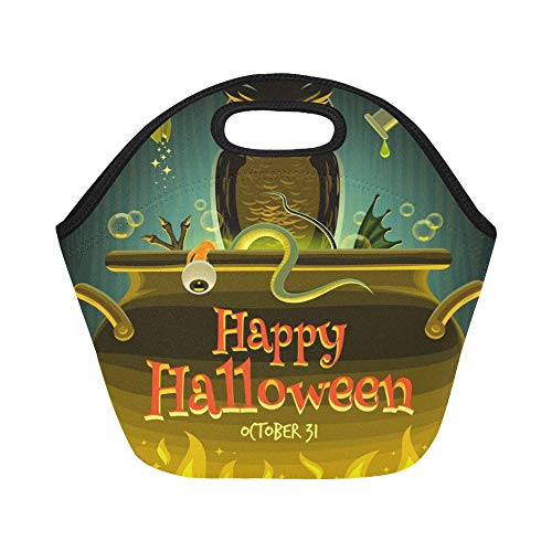 Insulated Neoprene Lunch Bag Halloween Witch Cooks Poison