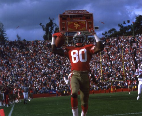 JERRY RICE SAN FRANCISCO 49ERS 8X10 SPORTS ACTION PHOTO (A)