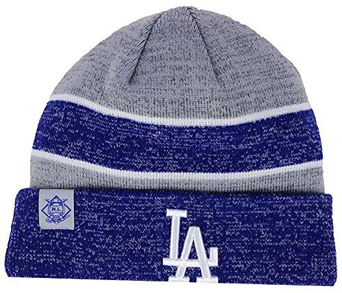 New Era Authentic Los Angeles Dodgers On Field Clubhouse Sport Knit Hat Sport Knit MLB Beanie Blue/Gray, OSFM