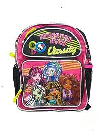 Small Size Black Varsity Monster High Backpack - Monster High Bookbag