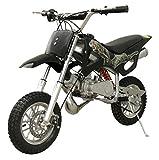 49cc 50cc 2-Stroke Gas Motorized Mini Dirt Pit Bike (Black)