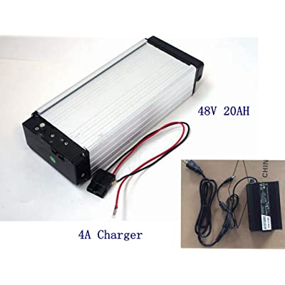 E-Bike Battery,48V 20AH Lithium Li-ion Battery with 4A Charger, for 1000W /1500W E-Bike Kit, Electric Bicycle Scooter Rear Rack Power. : Sports & Outdoors