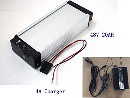 E-bike Battery,48V 20AH Lithium Li-ion Battery with Charger,for 1000W on