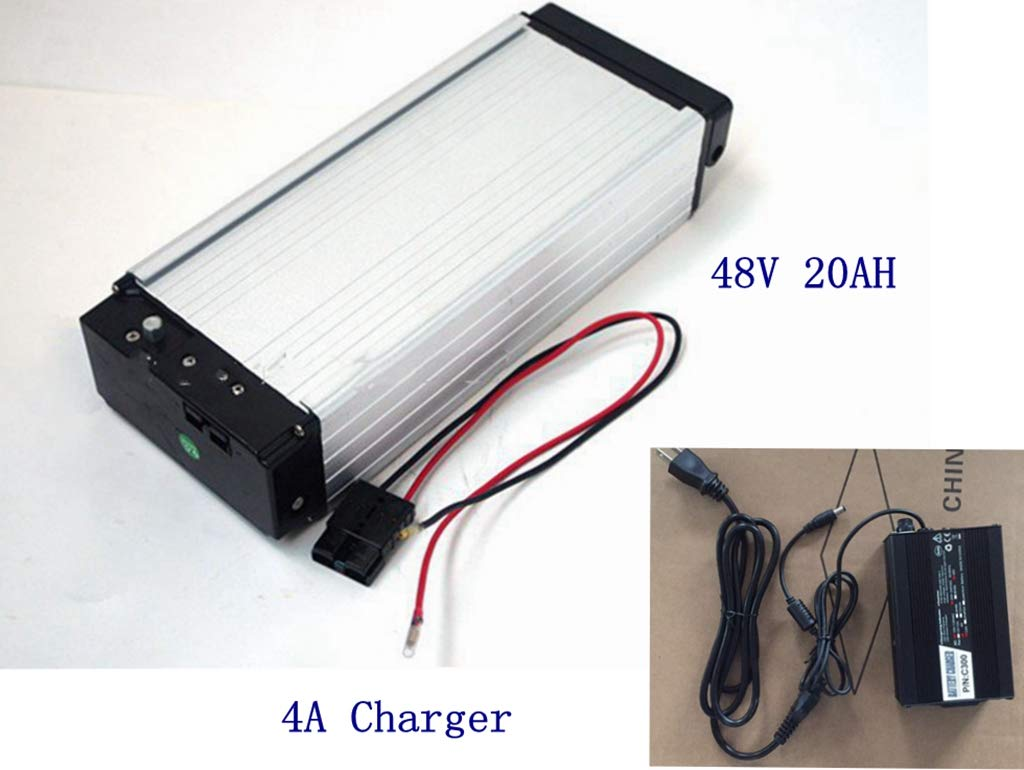 E-bike Battery,48V 20AH Lithium Li-ion Battery with Charger,for 1000W /1500W E-bike Kit, Electric bicycle Scooter Rear rack Power.