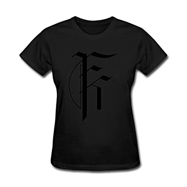 amazon com sajoph women s fit for a king logo t shirt size m black rh amazon com