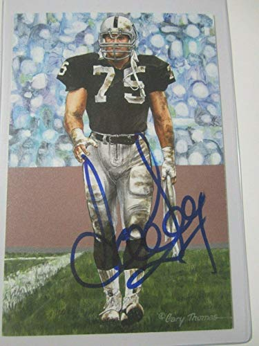 Howie Long Oakland Raiders signed autographed Goal Line Art Card COA - JSA Certified - NFL Autographed Football Cards