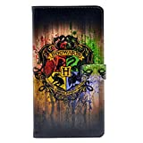 iphone 7 Plus Case Hogwarts Watercolor Art Pattern Leather Wallet Credit Card Holder Pouch Flip Stand Case Cover For Apple iphone 7 Plus New