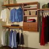 Woodcrest 120'' Wide Closet System Finish: Carmel