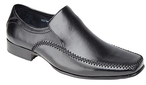 e187f6c00071 Goor HUGH Mens Faux Leather Tramline Loafers Brown: Amazon.co.uk: Shoes &  Bags