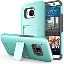 Vena HTC One M9 Legacy Case [Dual Layer Protection][Shock Absorption] Heavy Duty Hybrid Case with Kickstand + 1 PREMIUM (HD CLEAR) Screen Protector for 2015 HTC One (M9) Hima (Teal/Gray)