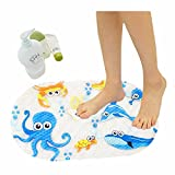 Eanpet Kids Bath Mat with Suction Cups Non Slip Bathtub and Shower Mat for Babies 15x27 Inches Toddler Shower Resistant Bathroom Floor Bathtub Mats PVC Cute Pattern Design Bathtub Mat - Submarine
