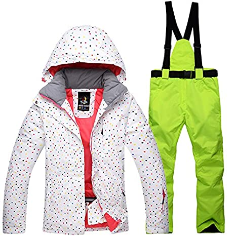 Ski Jacket Pants Set Winter Womens Snowsuit Windproof Waterproof Outdoor Warm Thermal Snow Snowboard Skiwear Clothes ShiningLove