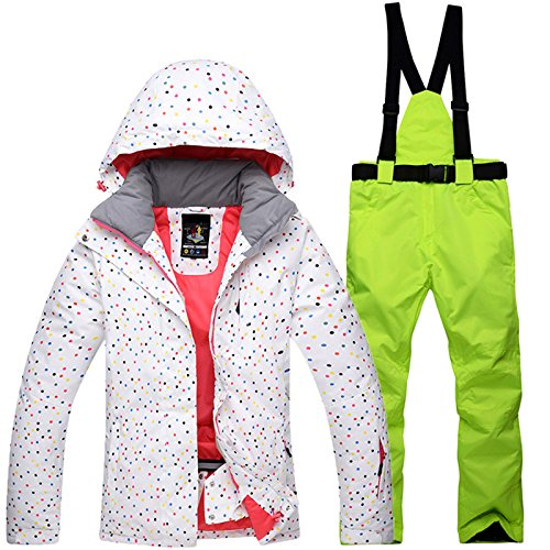 917181f69 Amazon.com   Ski Jacket Pants Set Winter Womens Snowsuit Windproof ...