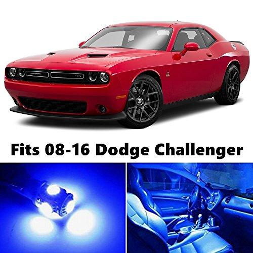 12 X Premium Blue Led Light Interior Package Upgrade For Dodge Challenger 2008 2016