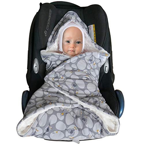 /Übergangszeit Herbst Winter SWADDYL /® Baby Einschlagdecke I Maxi cosi Decke I Babydecke f/ür Babyschale I Fu/ßsack Maxi-cosi Dodo V/ögel
