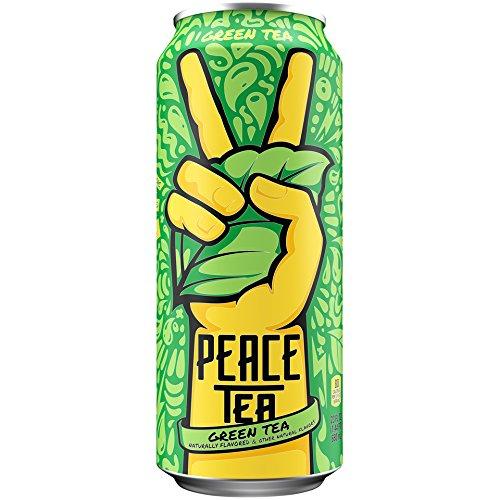 Peace Tea Green Sweet Iced Tea Drinks, 23 fl oz, 12 Pack