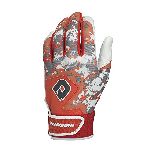 DeMarini Digi Camo II Batting Gloves, Orange, Large, Pair (Orange And Black Baseball Gloves)