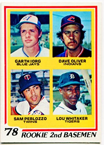 1978 Topps Rookie 2nd Basemen Card #708 Garth Iorg Toronto Blue Jays Lou Whitaker Detroit Tigers Dave Oliver Cleveland Indians Sam Perlozzo Minnesota Twins (Blue Jays Toronto Pitchers)
