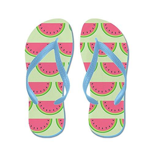CafePress Watermelon - Flip Flops, Funny Thong Sandals, Beach Sandals Caribbean Blue