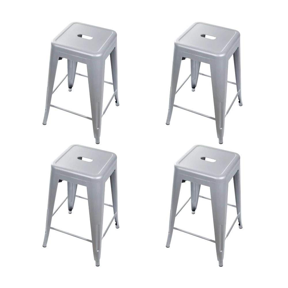 GIA Set_4 Toolix 24-Inch Counter-Height Backless Stool, 4-Pack, Gray