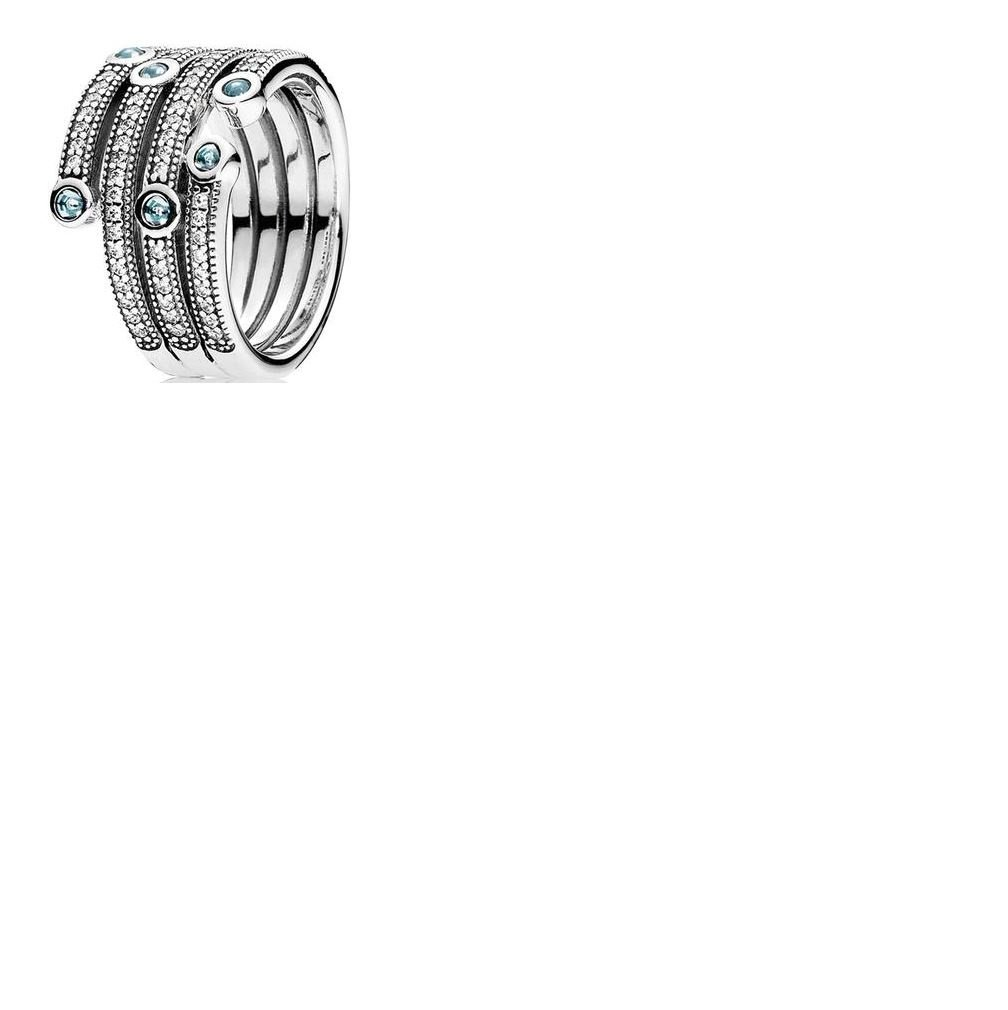Compatible With Pandora Jewelry 925 Sterling Silver Shimmering Ocean with Frosty Mint (52)
