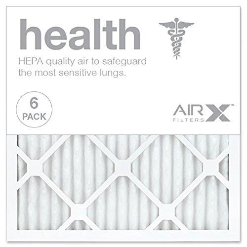 AIRx HEALTH 16x16x1 MERV 13 Pleated Air Filter - Made in the USA - Box of 6