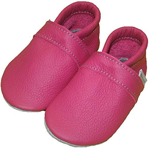 Formreich - Patucos de Piel para niño Rosa - rosa