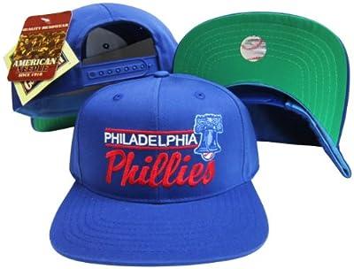 American Needle Philadelphia Phillies Blue Snapback Adjustable Plastic Snap Back Hat/Cap