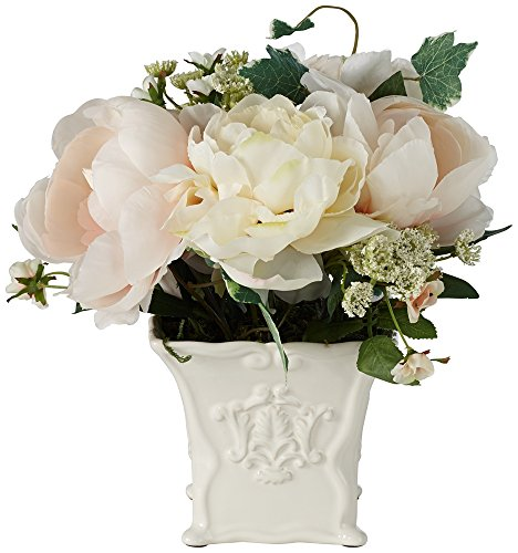 White-Peonies-and-Roses-10-14W-Flowers-in-a-Ceramic-Pot